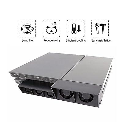 Amazon.com: QUMOX PS4 External Super Cooling Fan - Turbo Cooler Black for Playstation 4: Computers & Accessories