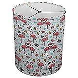 Hardback Linen Drum Cylinder Lamp Shade 8'' x 8'' x 8'' Spider Construction [ Pink Love Flamingo ]