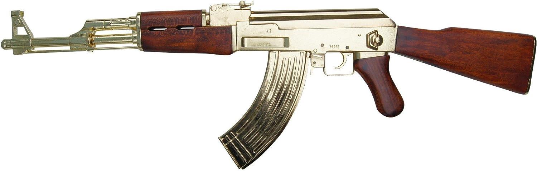 AK 47 Kalaschnikow 'Goldfarben' Deko Waffe Originalgröße