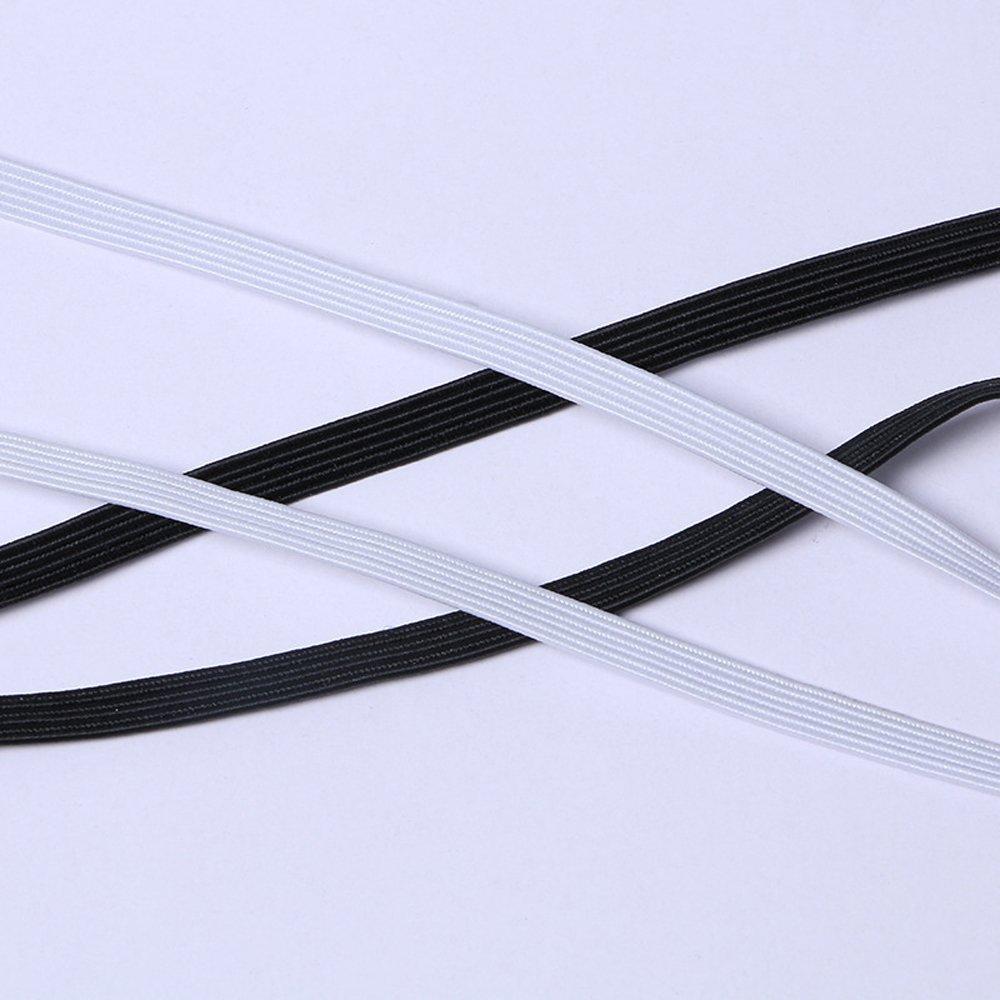 pu/ños costura 180/metros Cuerda El/ástica plana 6/mm de ancho para cintura Sastrer/ía blanco