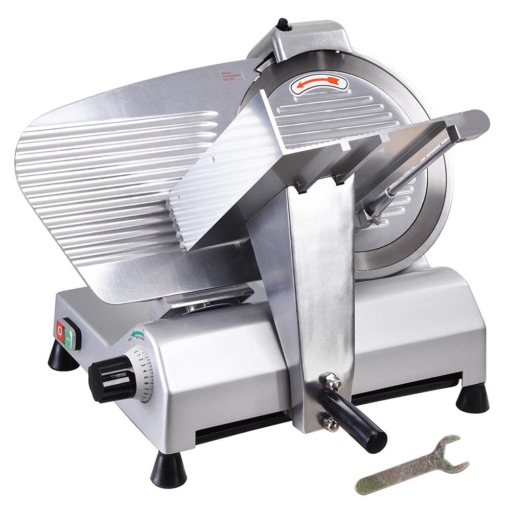 Yescom 12'' Stainless Steel Blade Electric Meat Slicer Commercial Deli Food Cheese Veggies Cutter Restaurant