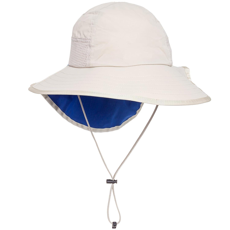 b0a40c74786 Amazon.com  Sunday Afternoon Adjustable Kids Sun Hat w  Chin Strap (Cream    Royal