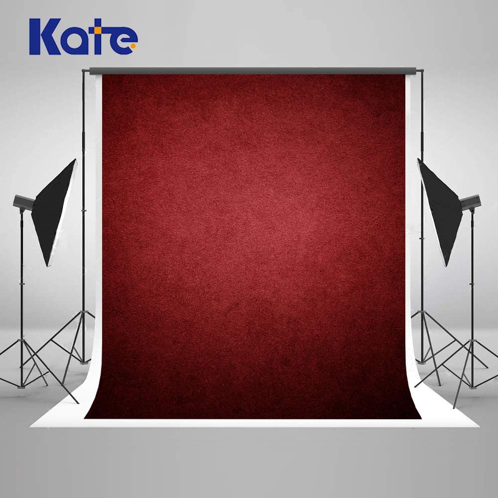 Kate 5×7ft Dark Red Abstract Photography Backdrop Texture Microfiber Burgundy Backdrop Professional Head Shot Portrait Fabric Wine Red Photo Studio Props