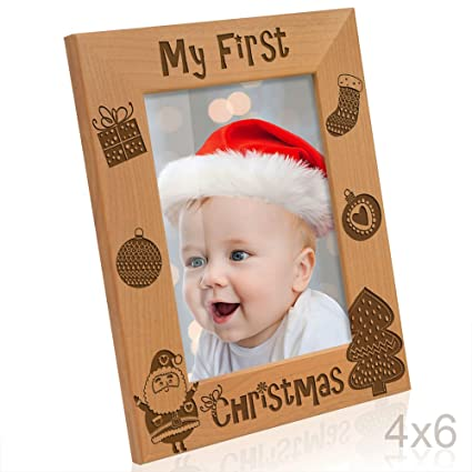 Amazon.com - Kate Posh - My First (1st) Christmas Picture Frame ...