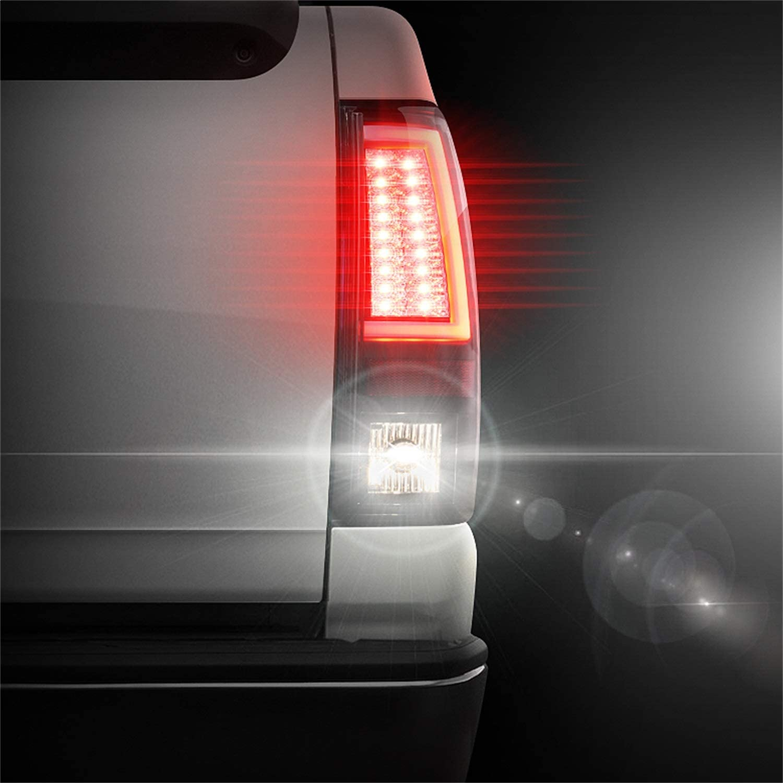 Not Fit Stepside Chevy Silverado 1500//2500 99-02 // GMC Sierra 1500//2500//3500 99-03 Version 2 LED s - Smoke Xtune ALT-YD-CS99V2-LED-SM Tail Light Spyder