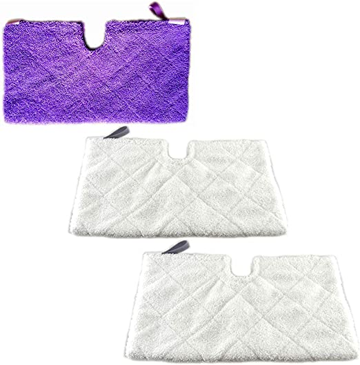 4 Pack Euro-Pro XLT3501 Microfiber Pad Replacement for Shark Steam Pocket Mops