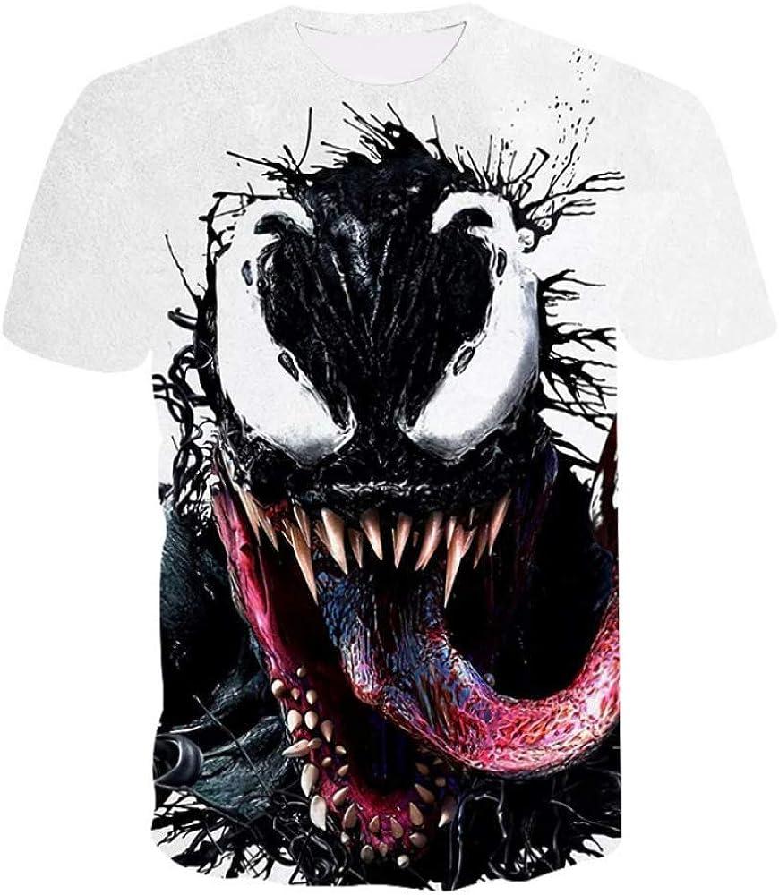 HNOSD La Camiseta más Nueva del Veneno Camisetas Impresas en 3D Hombres Mujeres Camisa Casual Camiseta de Manga Corta Fitness Camiseta Deadpool Tees Spider Man Skull Tops: Amazon.es: Ropa y accesorios