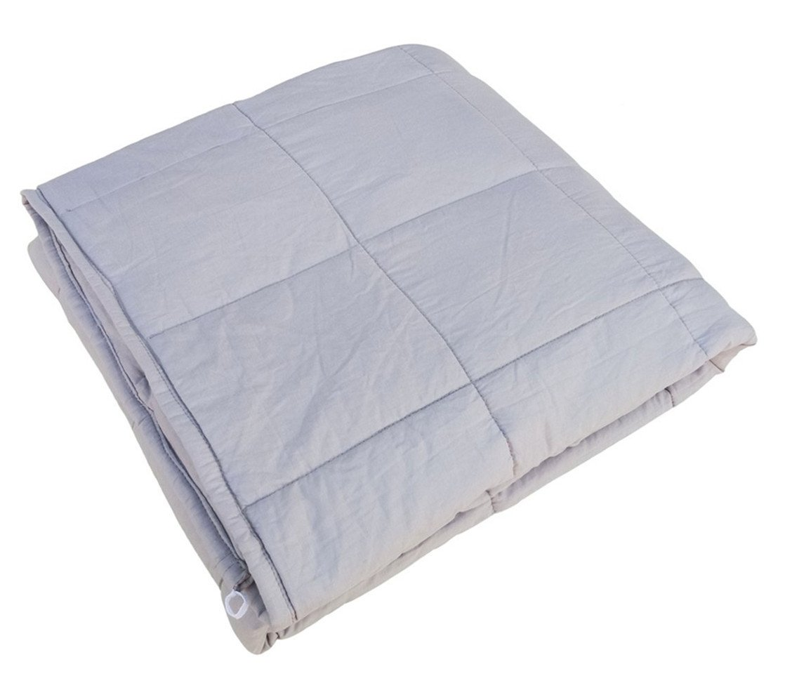 Heavy Blanket Gravity Sensory Weighted Throw Cotton Cozy Bed Blankets Adults Kids for Calming Comfort Deeper Better Faster Sleep Reduce Stress Anxiety Relaxing Muscles Nervous System 48''x72''-15 LB