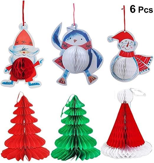 Six pack, papel de nido de abeja de la decoración de Navidad - suministros adornos de bolas