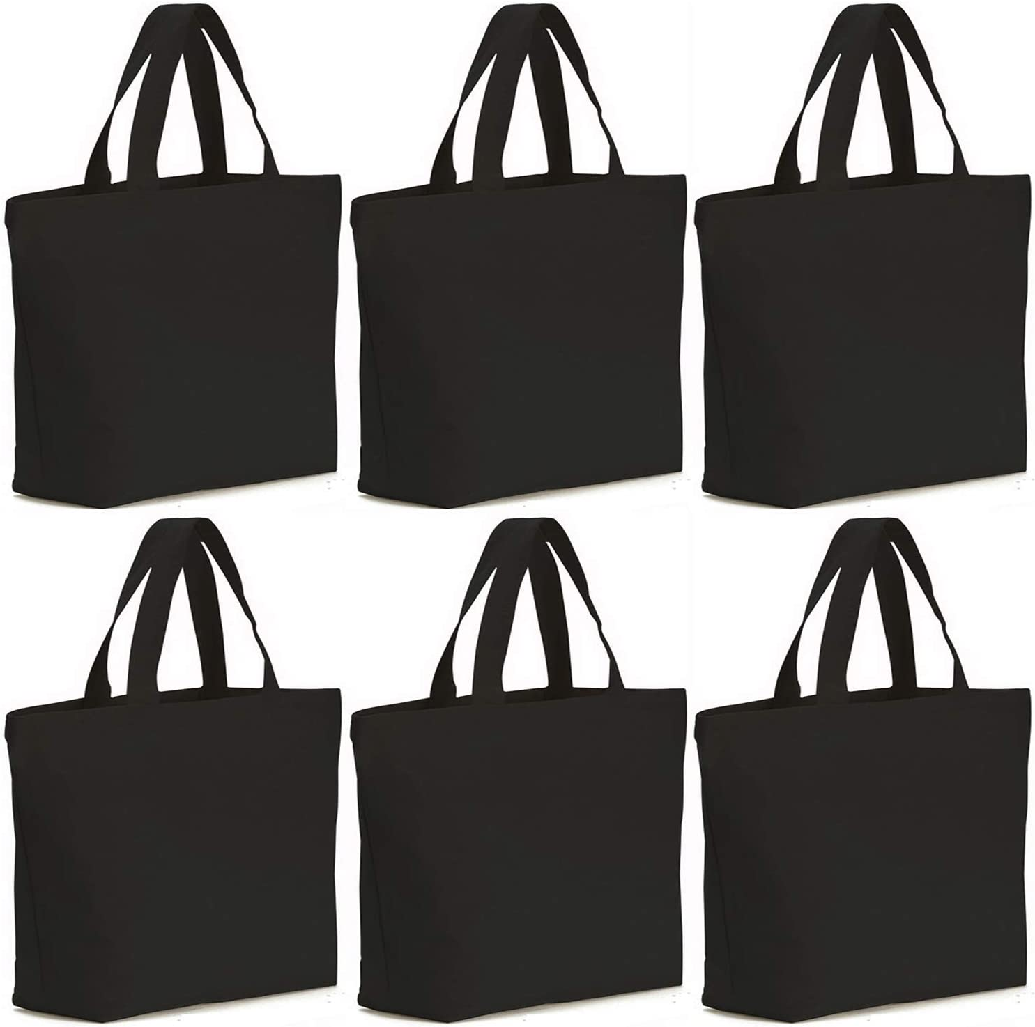 Axe Sickle 6PCS 12oz Canvas Tote Bag 19 X 18 X 5 inch Bottom Gusset Tote Shopping Bag, Washable Grocery Tote Bag, Craft Canvas Bag, Black.
