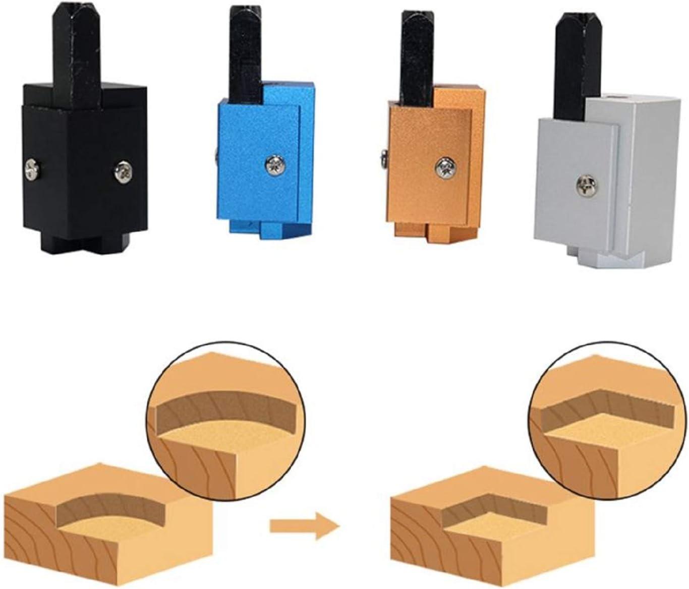 Scalpello angolare per intaglio del legno su incavi per cerniere quadrate in legno Scalpello per intaglio ad angolo retto per utensili a scalpello per la lavorazione del legno Black