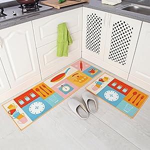 Amazon.com : Carvapet 2 Piece Non-Slip Kitchen Mat Rubber