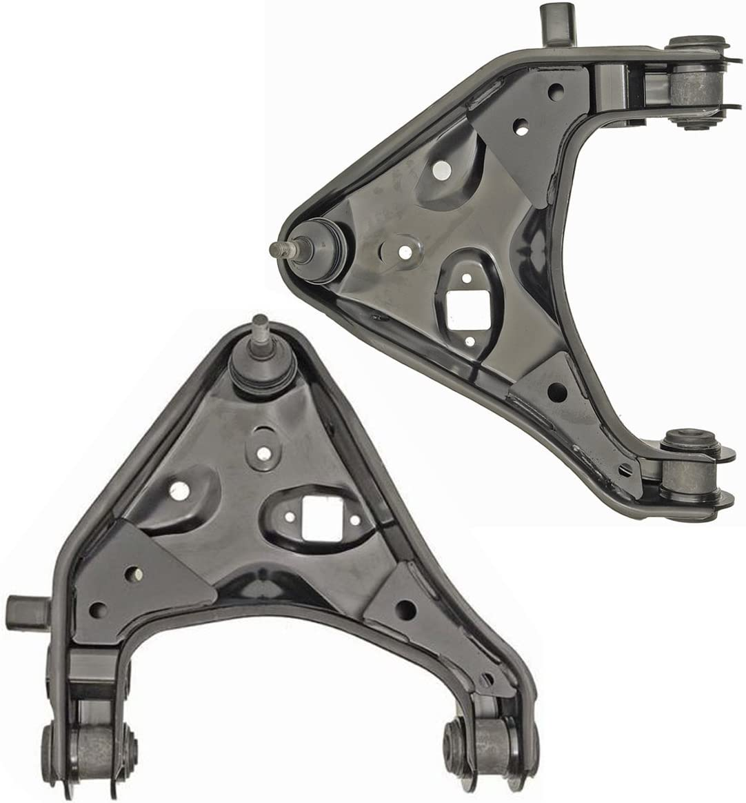 Driver and Passenger Side Detroit Axle New Front Lower Control Arm and Ball Joint Assembly fits 2WD ONLY
