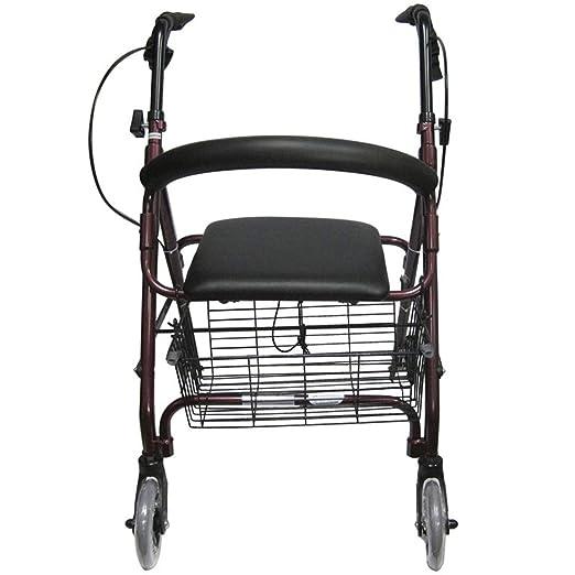 MANO walker Andador de 4 Ruedas con Asiento, caminador médico para ...