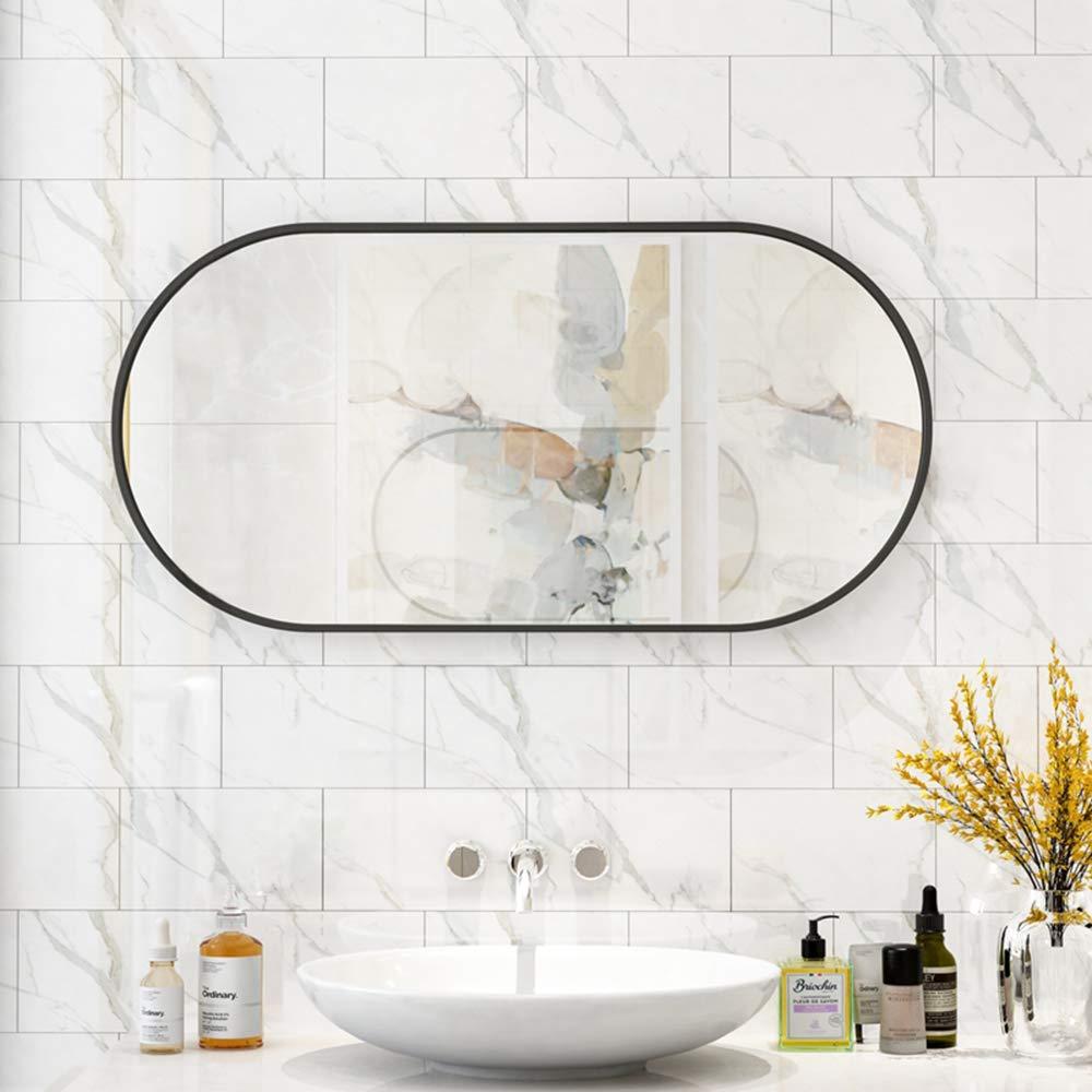 Family History Bathroom Specchio Decor Creativa Ovale Nero Finito Parete della Struttura Specchio Appeso per Bagno Ingresso Living Room,40x60cm