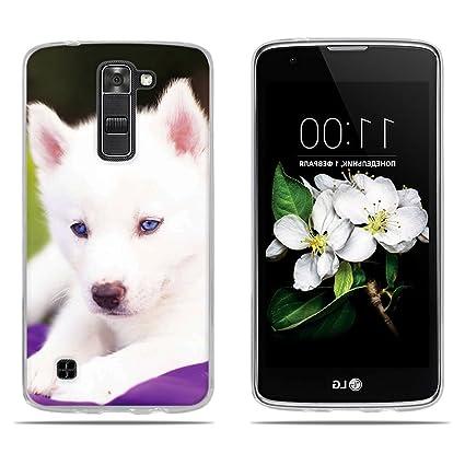 97efb69e388 DIKAS Funda LG K7 / X210 / X210DS / LG Tribute 5 LS675, Diseño Protección  Suave 3D TPU Gel Silicona Teléfono Celular Back Funda Carcasa para ...