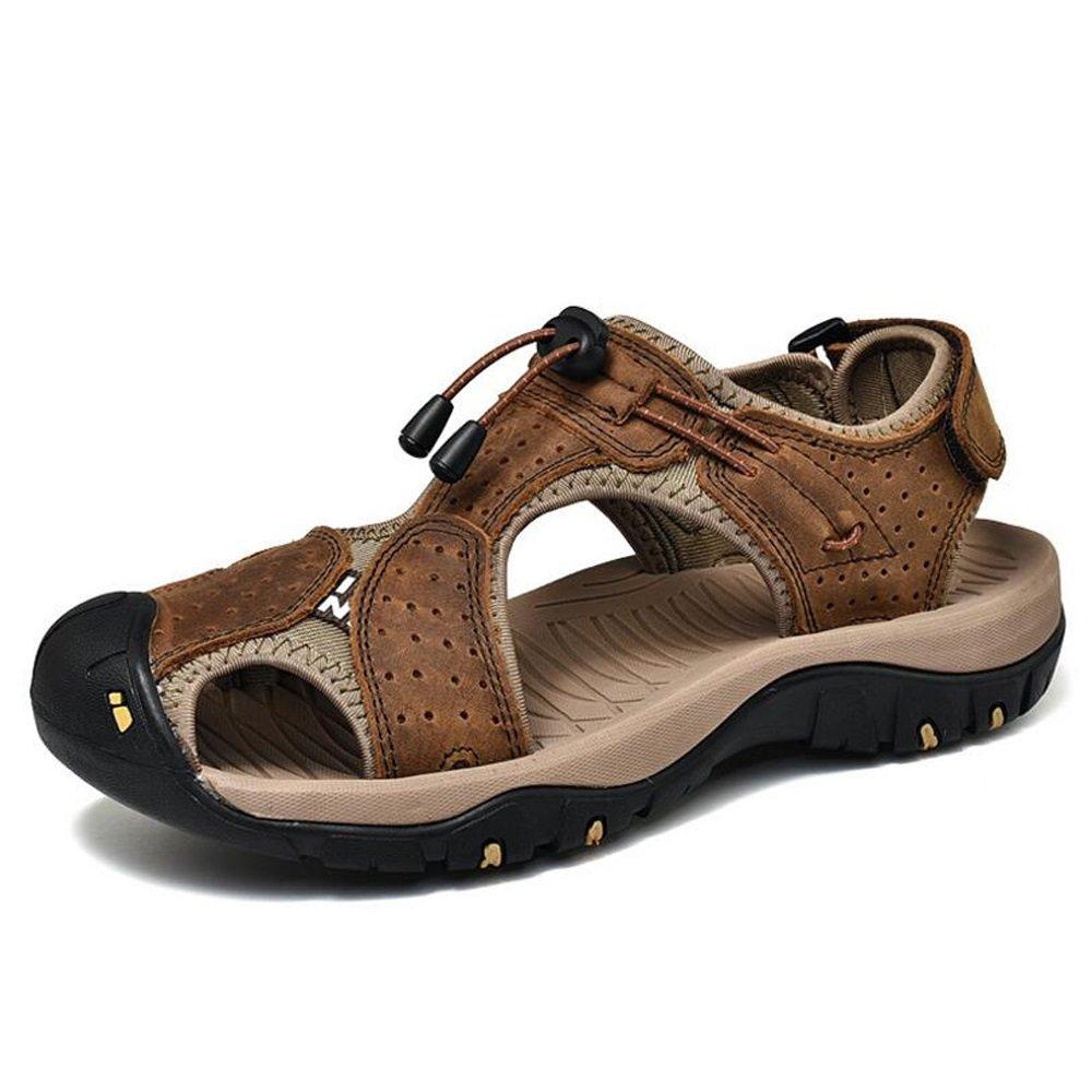 Sandalias Baotou para hombre Nuevo y caliente Confort de diseño Estilo británico Paseo por la playa Sandalias ligeras y transpirables Zapatillas GAOLIXIA ( Color : Dark brown , tamaño : 41 ) 41|Dark brown
