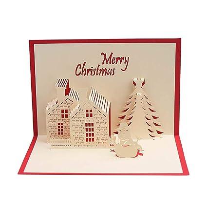 Unique Christmas Cards.Amazon Com Beautiful Unique Christmas Cards 3d Pop Up
