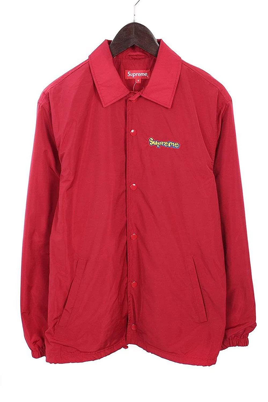 (シュプリーム) SUPREME 【18SS】【Gonz Logo Coaches Jacket】ゴンズグラフィックロゴコーチジャケット(S/レッド) 中古 B07FQPGPMZ  -