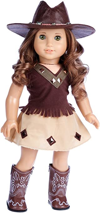 "Cowgirl Long Sleeve Top Fits 18/"" American Girl  Dolls"
