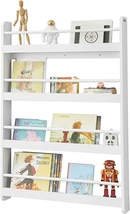 Sobuy Kmb08 W Libreria Infantil Para Ninos Con 4 Estanterias