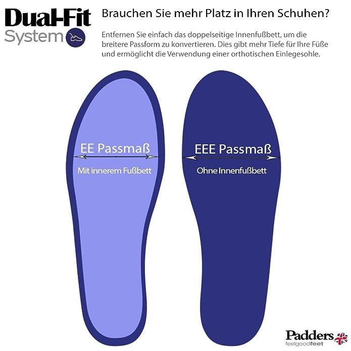 scarpe Padders donne sentivano 'Heidi'   con sistema di regolazione a doppia  larghezza   Extra Large Larghezza EE-SEE   15 millimetri tallone    calzascarpe ...