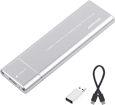 Tipo-C a NVMe M.2 Adaptador SSD PCIe de Alto Rendimiento, USB 3.1 Gen 2 a NGFF NVME PCI-E M-Key Carcasa Externa de Unidad de Estado Sólido, con Cable USB C-C: Amazon.es: Electrónica