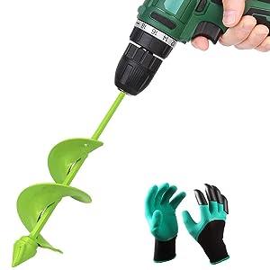 Auger Drill Bit, Garden Plant Flower Bulb Auger 3.2