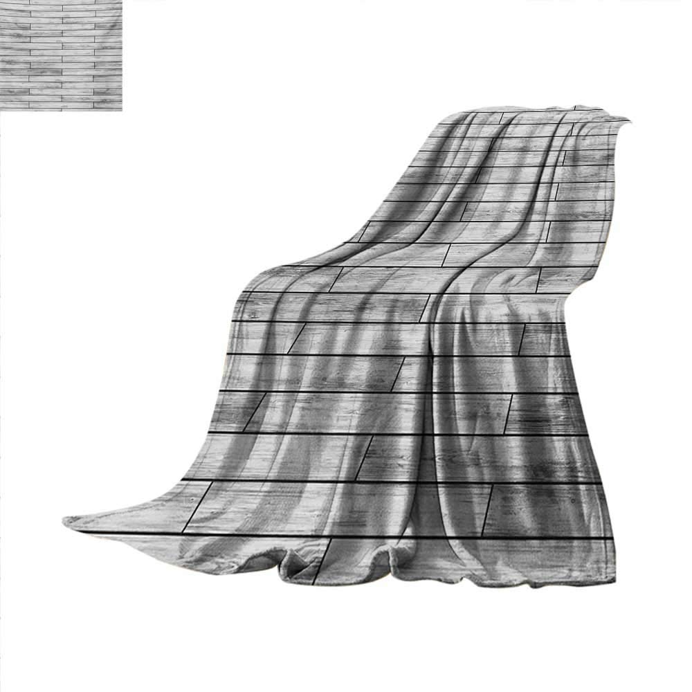Taupe Weave Pattern Blanket Picture of a Parquet Grey Wood Texture Rusty Retro Antique Aged Display Striped Tile Summer Quilt Comforter 80''x60'' Taupe Grey
