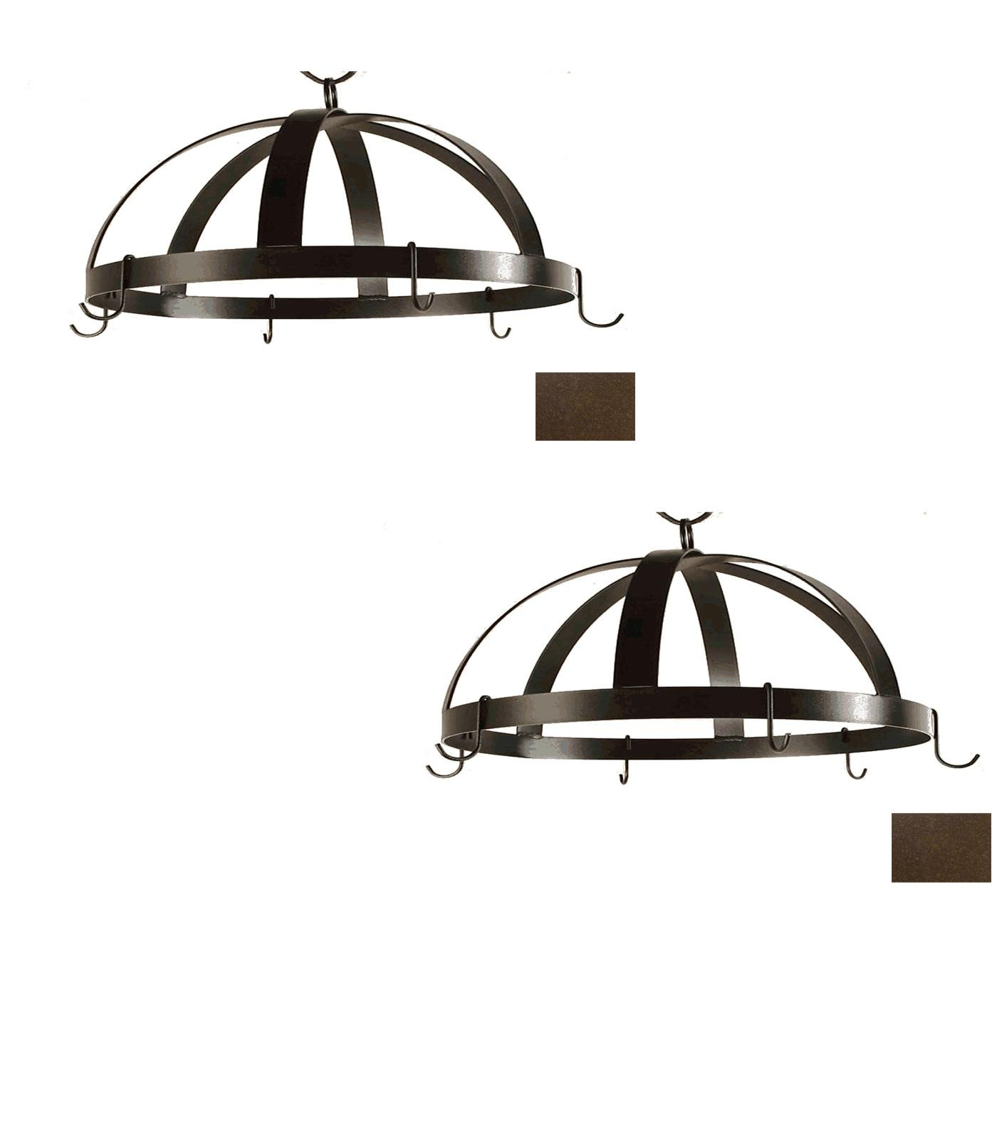 20-in x 20-in Aged Iron Dome Pot Rack - Grace Collection Model - GMC-DPR-20-AI - Set of 2 Gift Bundle by Grace Collection