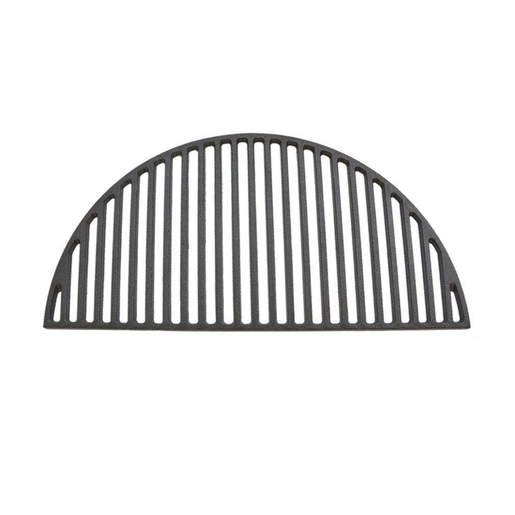 Onlyfire Barbecue Half Moon Cast Iron Cooking Grate Fits for Large Big Green Egg,Kamado Joe Classic,Pit BossK22,Louisiana K22,Large Grill Dome,and Other Kamado Grill