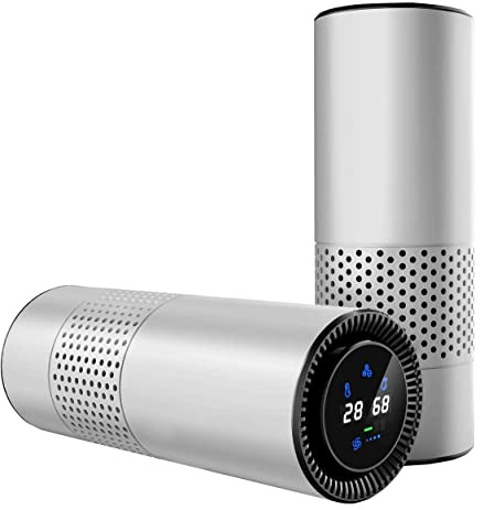 hepa filter air purifier for allergy sufferers with gesture sensing control perfect for car desktop
