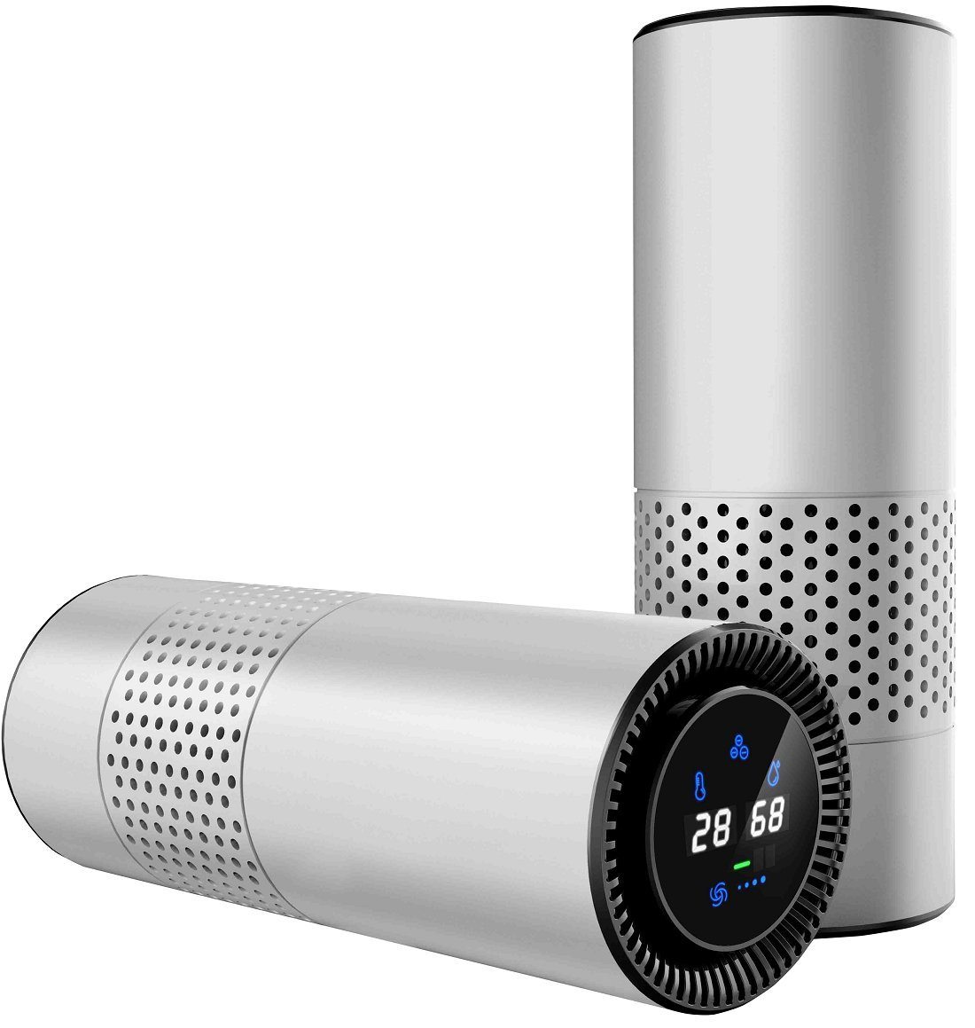 Mododo HEPA Filter Air Purifier for Allergy Sufferers With Gesture Sensing Control,Perfect for Car Desktop Office Home(Silver)