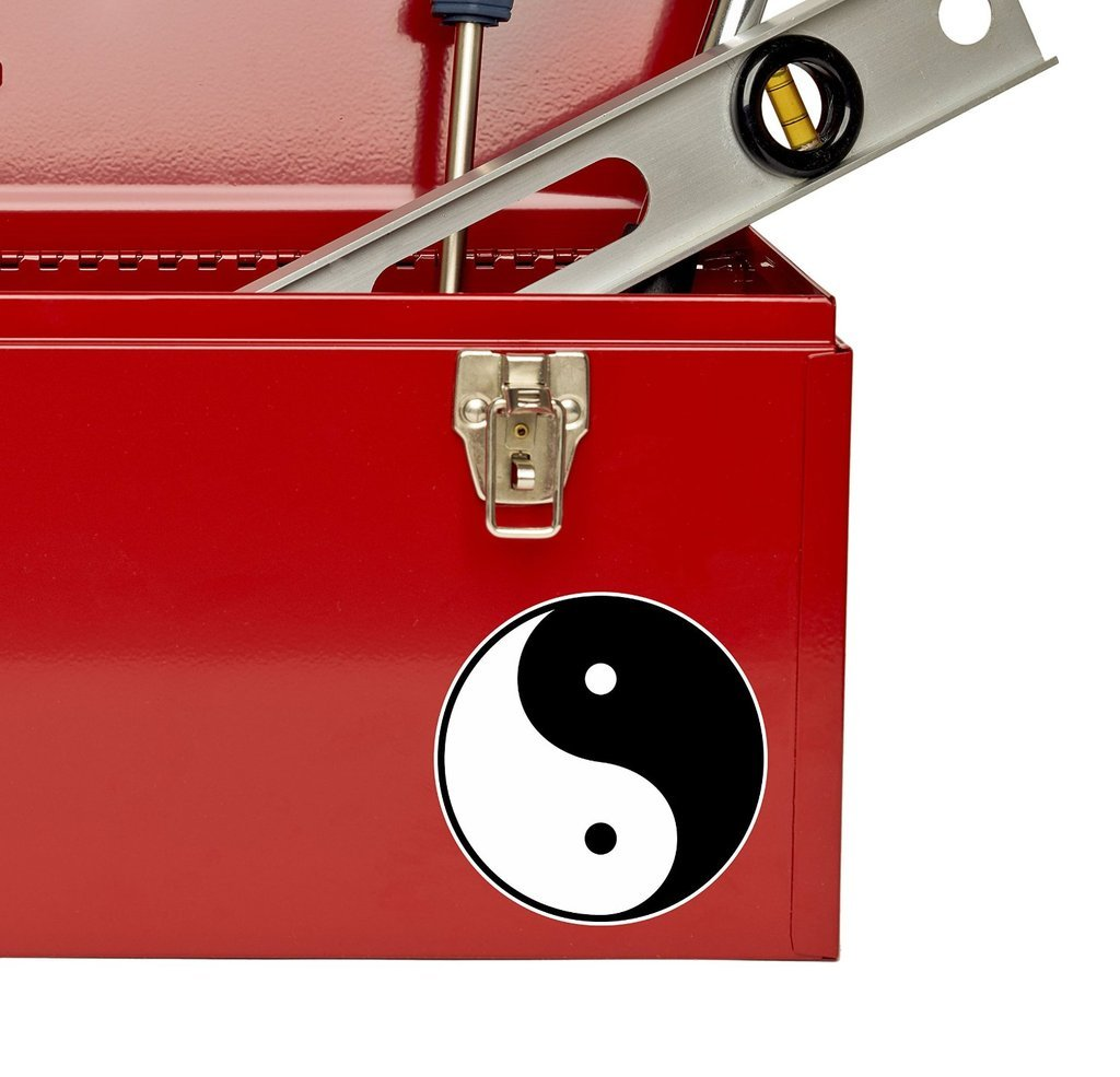2 x 10cm//100mm Chinese Yin Yang Vinyl Sticker Decal Laptop Travel Luggage Car Bike Sign Fun #4396