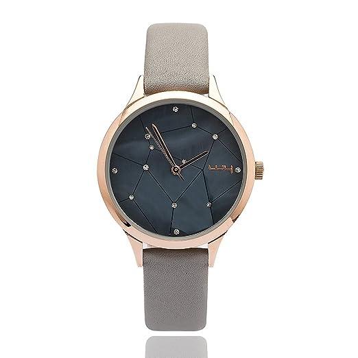 b75099fe940 WY Ladies Water Resistant Wrist Watch for Women Genuine Leather Band -  Female Grey