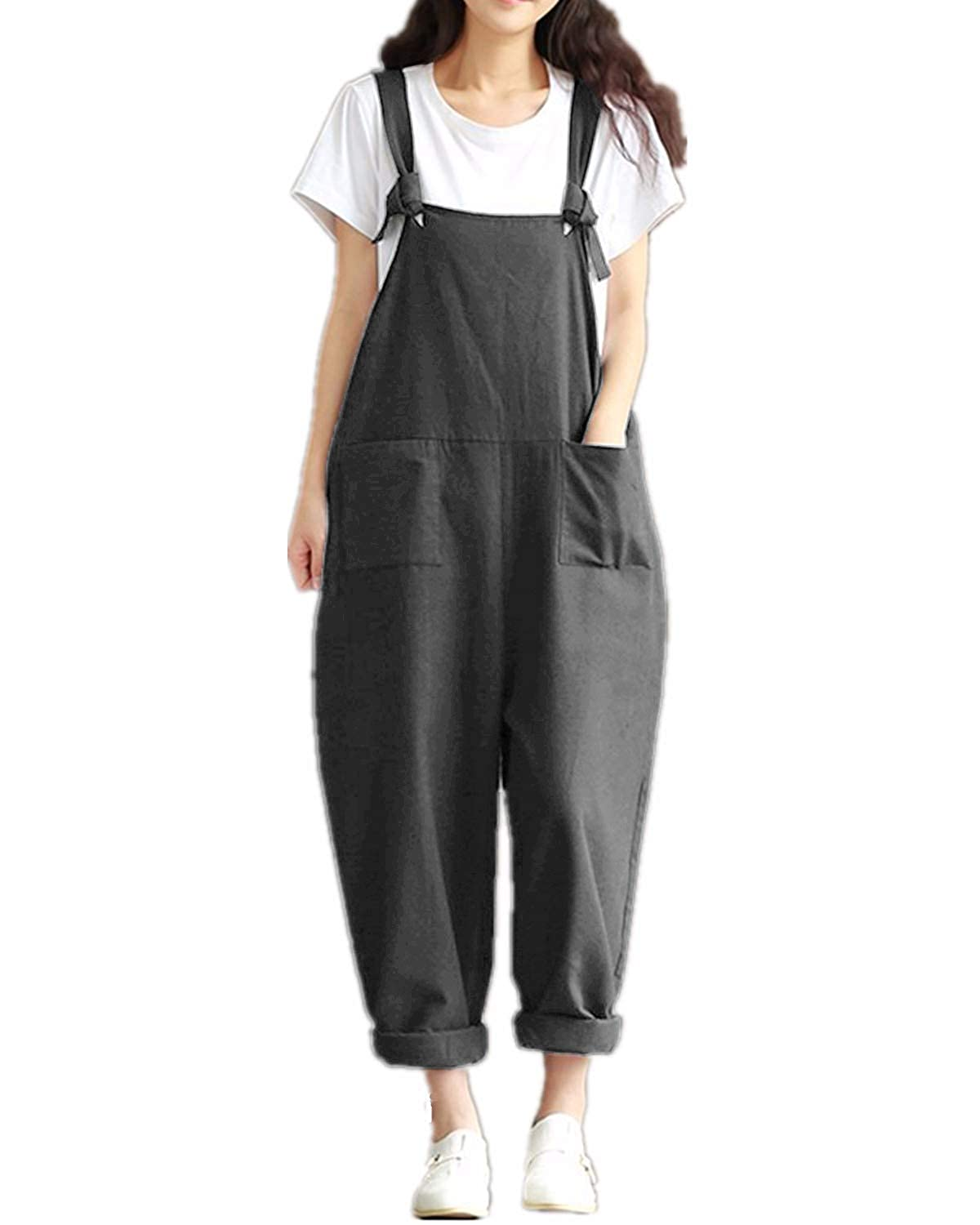 wide selection hot product vast selection ZANZEA Women's Dungarees Vintage Printed Loose Casual Baggy Sleeveless  Overall Long Jumpsuit Playsuit Trousers Pants Dungarees