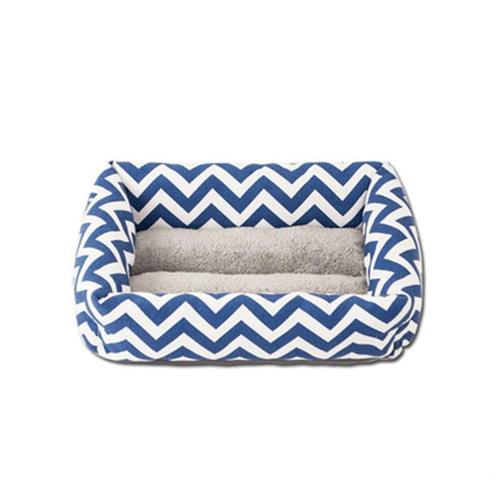 C MMSNDD Pet Nest Wave Pattern Dog And Cat House Rest Bed Oxford Cloth Wear And Bite Resistant Waterproof Large Size Optional bluee 30 Kg Inside Pet Nest (color   A, Size   S)