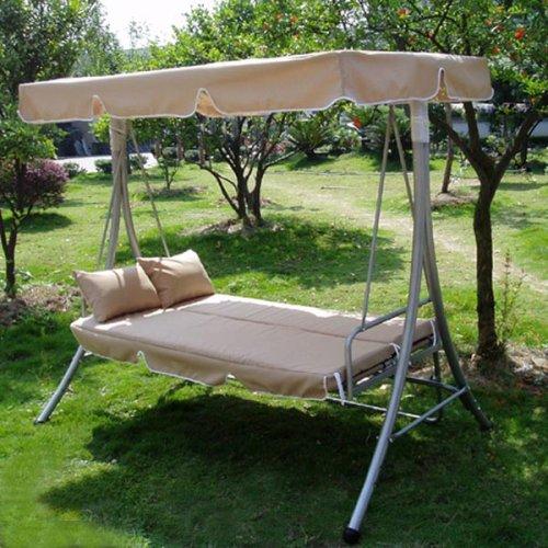 Hollywoodschaukel luxus  Loywe luxury swing garden swing with bed function LW10 Beige ...