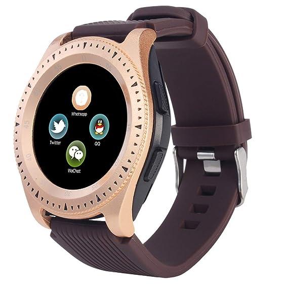 DIPOLA El Nuevo Reloj Inteligente Z4 Bluetooth 3.0 es Compatible con la Tarjeta SIM del Teléfono Android y la Tarjeta TF: Amazon.es: Deportes y aire libre