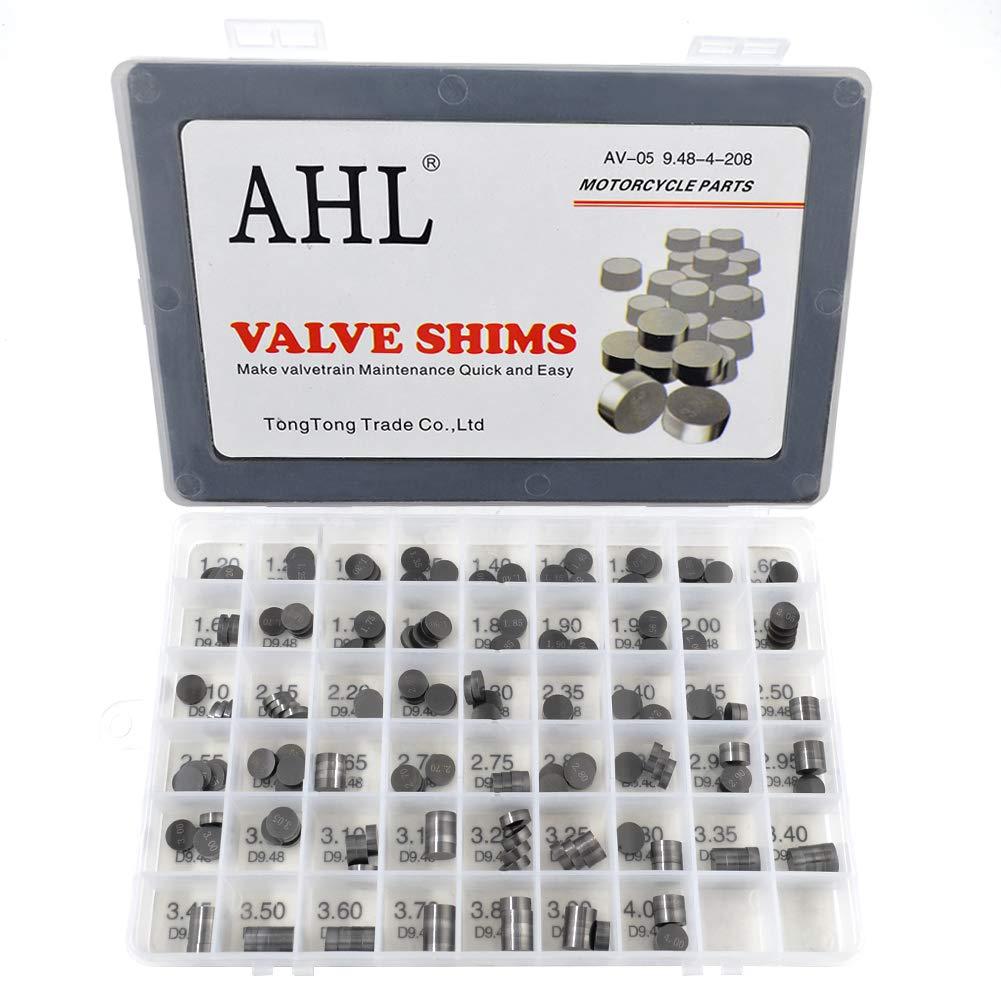 208pcs AHL Adjustable Valve Shim Kit 9.48mm O.D 1.20mm-4.00mm Thick for Suzuki LT-Z400 QuadSport Z 2003-2012