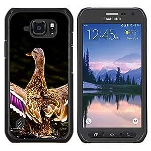 EJOOY---Cubierta de la caja de protección para la piel dura ** Samsung Galaxy S6Active Active G890A ** --Pato del estanque de agua Naturaleza Pájaro Primavera