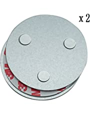 Hmtool Detector De Humo Magnético Herramienta De Instalación, Rápido Y Fácil De Fijación Kit Montado En El Techo para Alarma De Humo, Sin Necesidad De Taladro No Hay Peligro(2pcs)