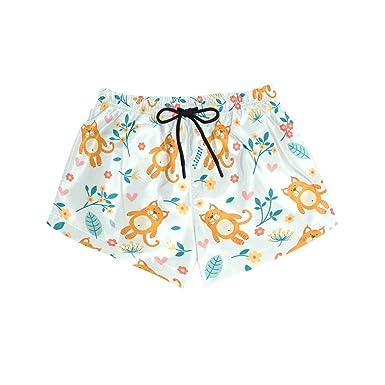 Amazon.com: U Life - Pantalones cortos de playa para mujer ...