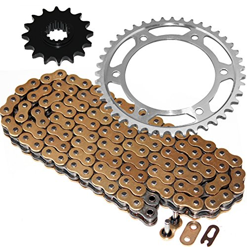 Caltric Golden O-Ring Drive Chain & Sprockets Kit Fits HONDA 600RR CBR600RR CBR-600RR 2003-2006 (Best Chain And Sprocket Cbr600rr)