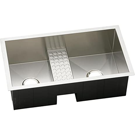 Elkay Crosstown EFULB331810CDB 40/60 Double Bowl Undermount Stainless Steel  Kitchen Sink
