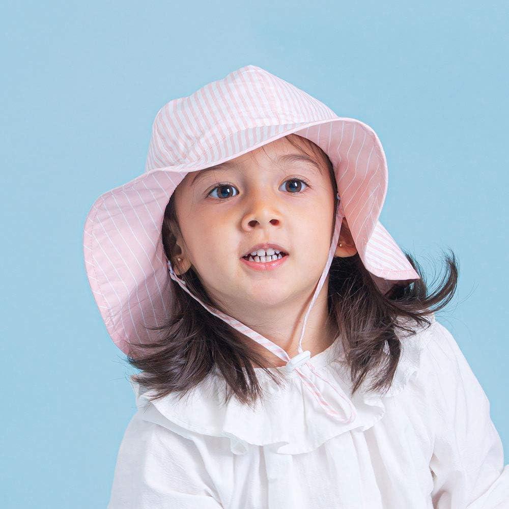 Ami/&Li tots Unisex Child Adjustable Wide Brim Sun Protection UPF 50 Baby Girl Boy Sunhat Infant Kids Toddler Sun Hat