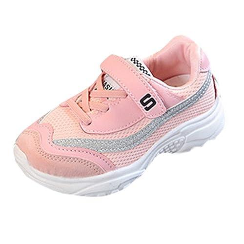 SOMESUN Bambini Ragazzi E Ragazze Colori Misti Sport Running Style Sneaker  Scarpe Casual Miscelazione del Colore Cavo Antiscivolo da Corsa in Velcro  Scarpe ... 004b0f7eb07
