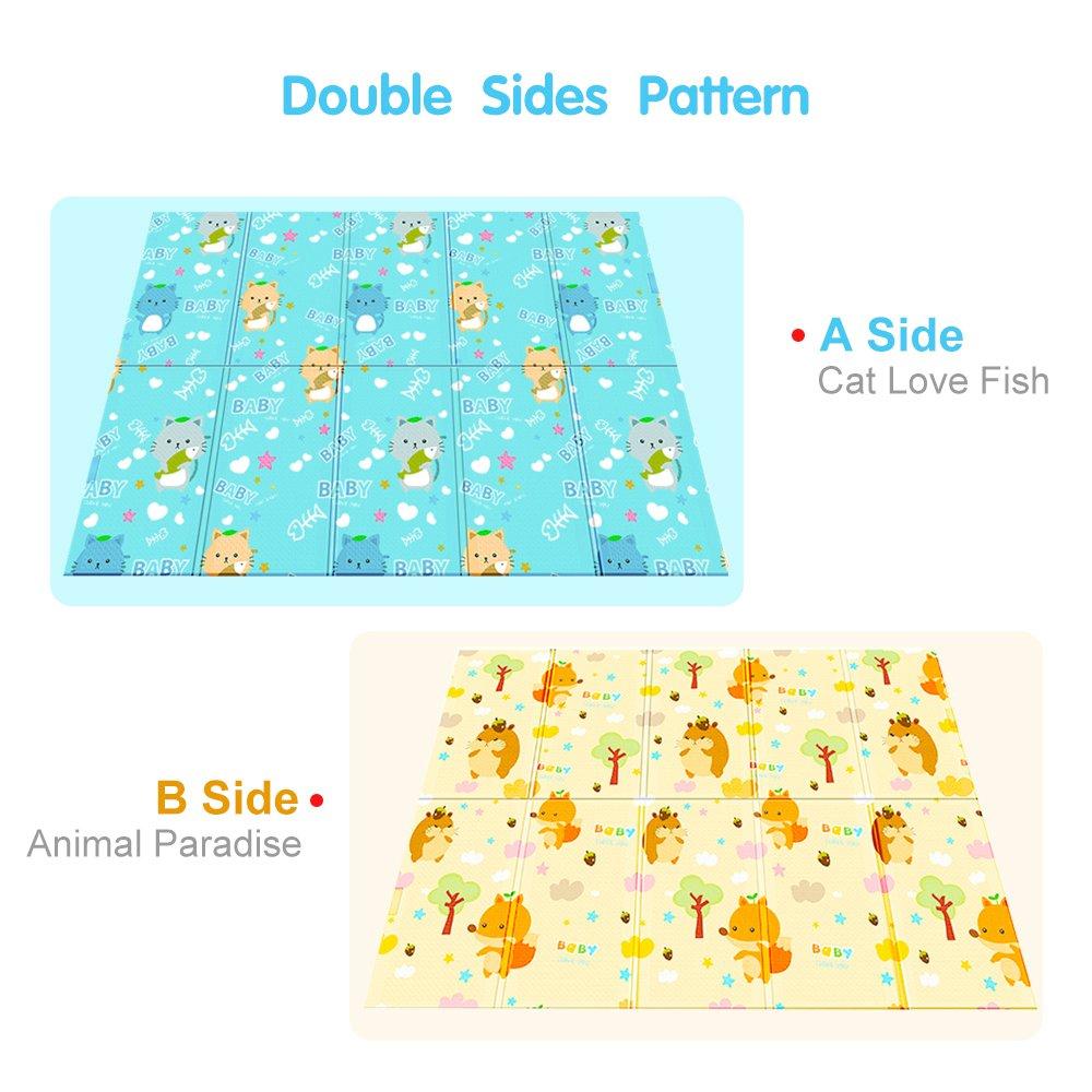 tumama Baby Play Mat Plegable Baby Crawling Mat Juego para niños Alfombra de picnic Alfombra de juego Kids: Amazon.es: Bebé