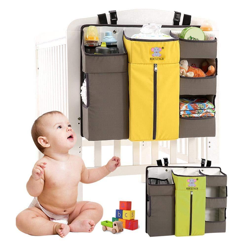 Amarillo Sunzit para beb/é organizador multifunci/ón para colgar en la mesita de noche bolsa de almacenamiento Organizador de pa/ñales