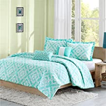 Intelligent Design Laurent 5 Piece Comforter Set, Full/Queen, Teal